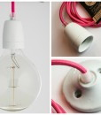 Porcelain pendant light pink