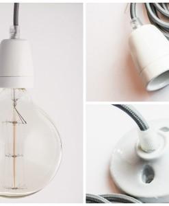 porcelain pendant light grey