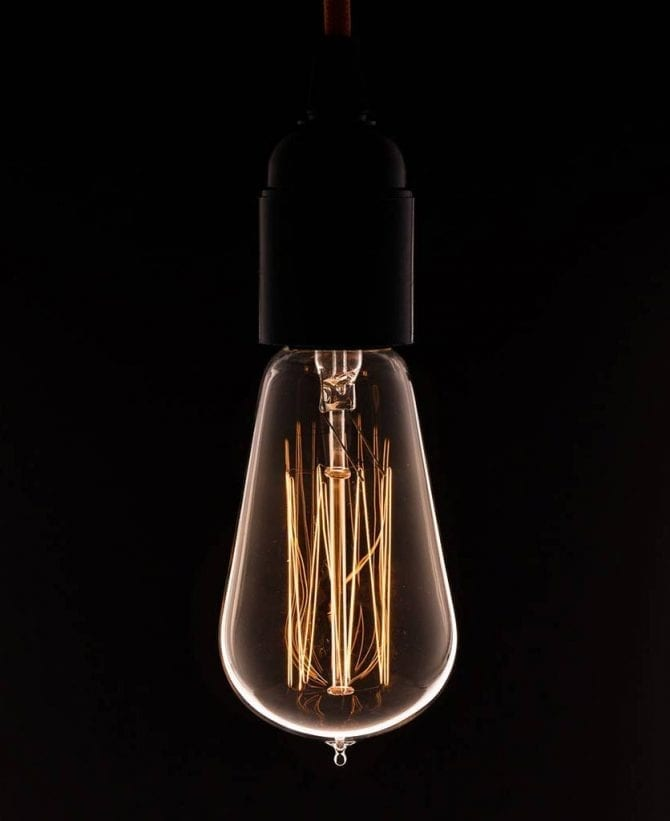pear squirrel cage filament vintage bulbs