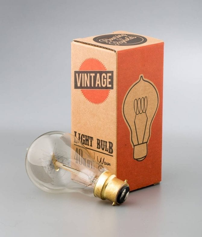 vintage filament light bulb quad loop