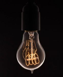 traditional quad loop filament bulb