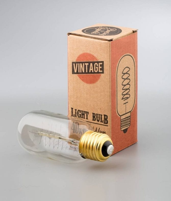 radio valve spiral light bulbs against white background