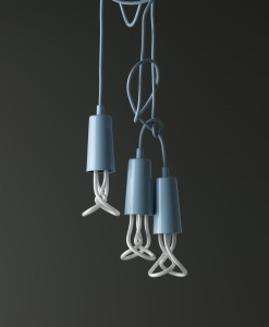 plumen light bulb with blue pendant (1)