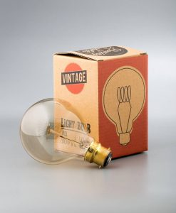 vintage light bulb medium globe loop filament