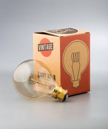 vintage light bulb medium globe loop filament