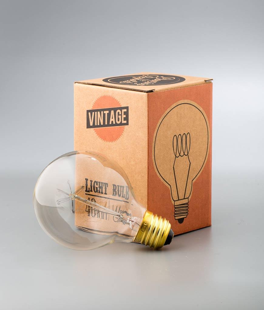 globe loop filament vintage light bulb medium globe