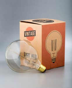 squirrel cage filament vintage light bulb extra large globe