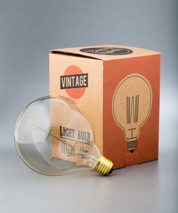 squirrel cage filament vintage light bulb extra large globe