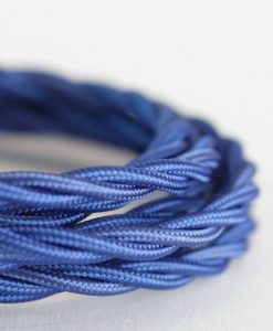 blue braided fabric cable
