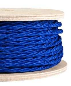 fabric lighting cable ocean blue