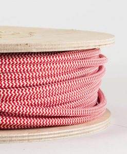 fabric lighting cable red and white