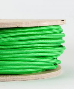 fabric lighting cable bright green