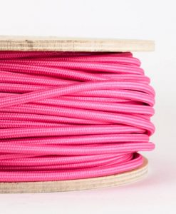 fabric lighting cable pink