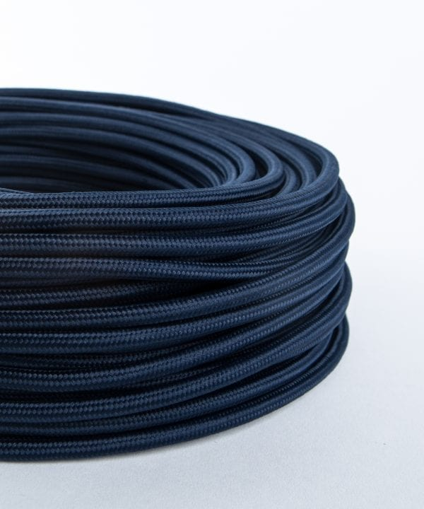 moody blue fabric cable