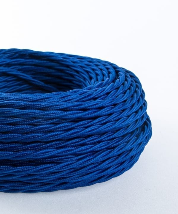 ocean blue twisted fabric cable