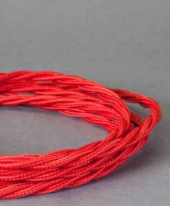 red braided fabric cable for lighting