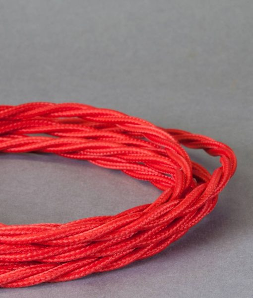VIBRANT RED Twisted Satin Sheen