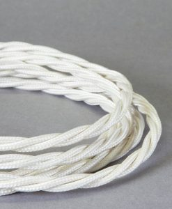 ivory twisted pendant light cord