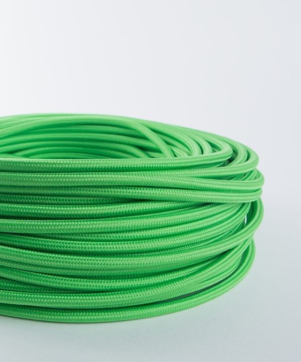zesty green fabric cable