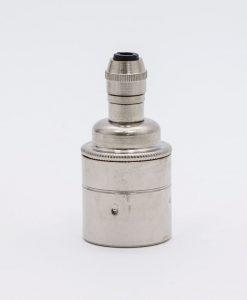 silver e27 plain bulb holder posh