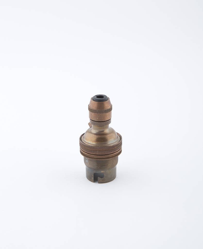 Brewer's brass B22 light bulb holder