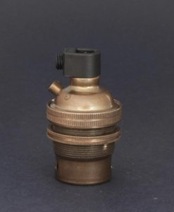 B22 Aged Brass Lamp Socket
