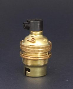 B22 brass lamp socket