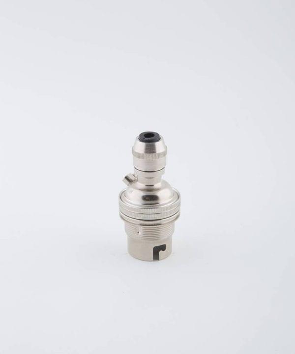 forgotten silver B22 light bulb holder posh