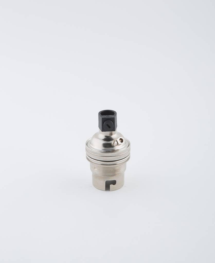 forgotten silver B22 light bulb holder