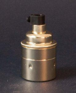 E27 polished brass lamp socket