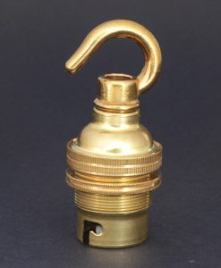 B22 polished brass lamp socket
