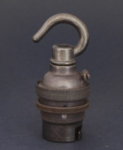 B22 antique bronze lamp socket with hook