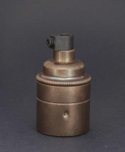E27 aged brass lamp socket