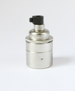 Silver Light Bulb Holder Screw Fitting
