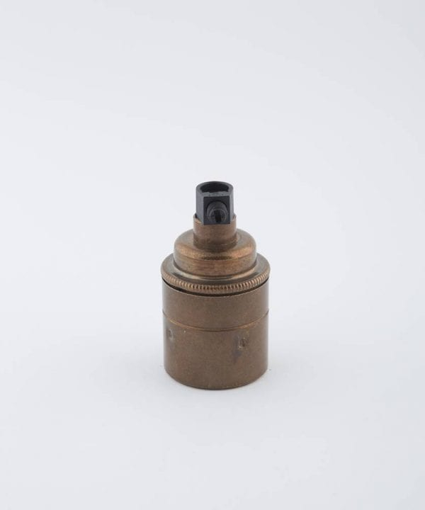 brewer's brass e27 light bulb holder