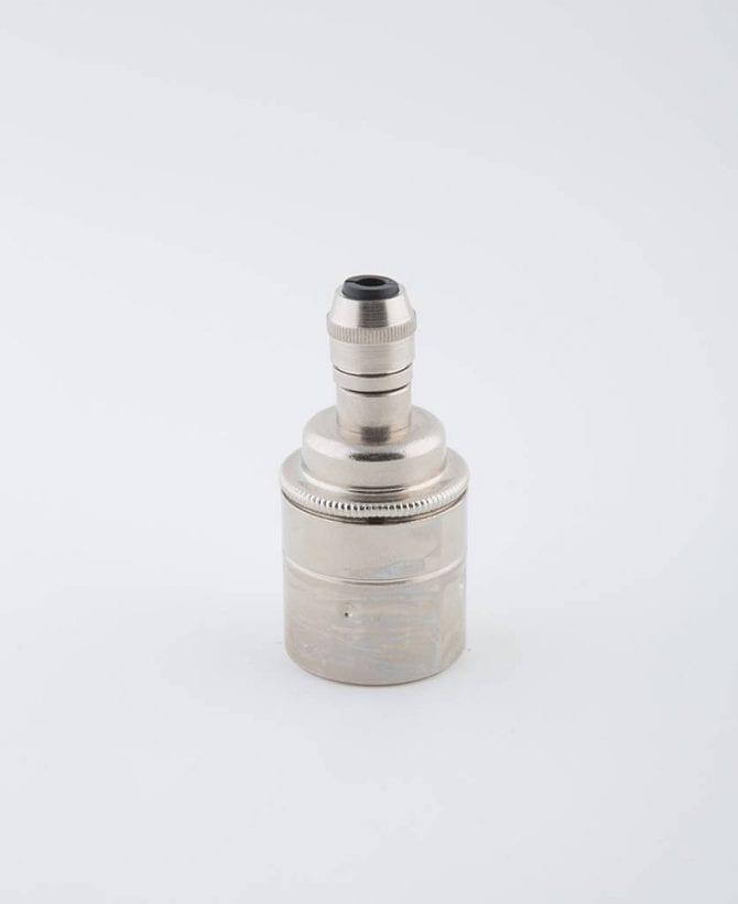 forgotten silver e27 light bulb holder posh