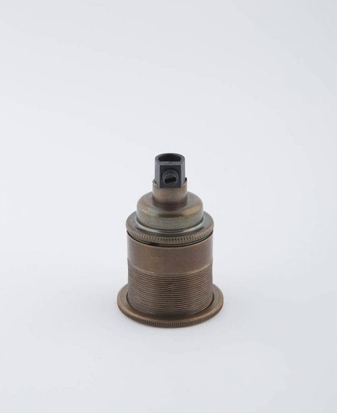 old brewer's brass e27 threaded light bulb holder
