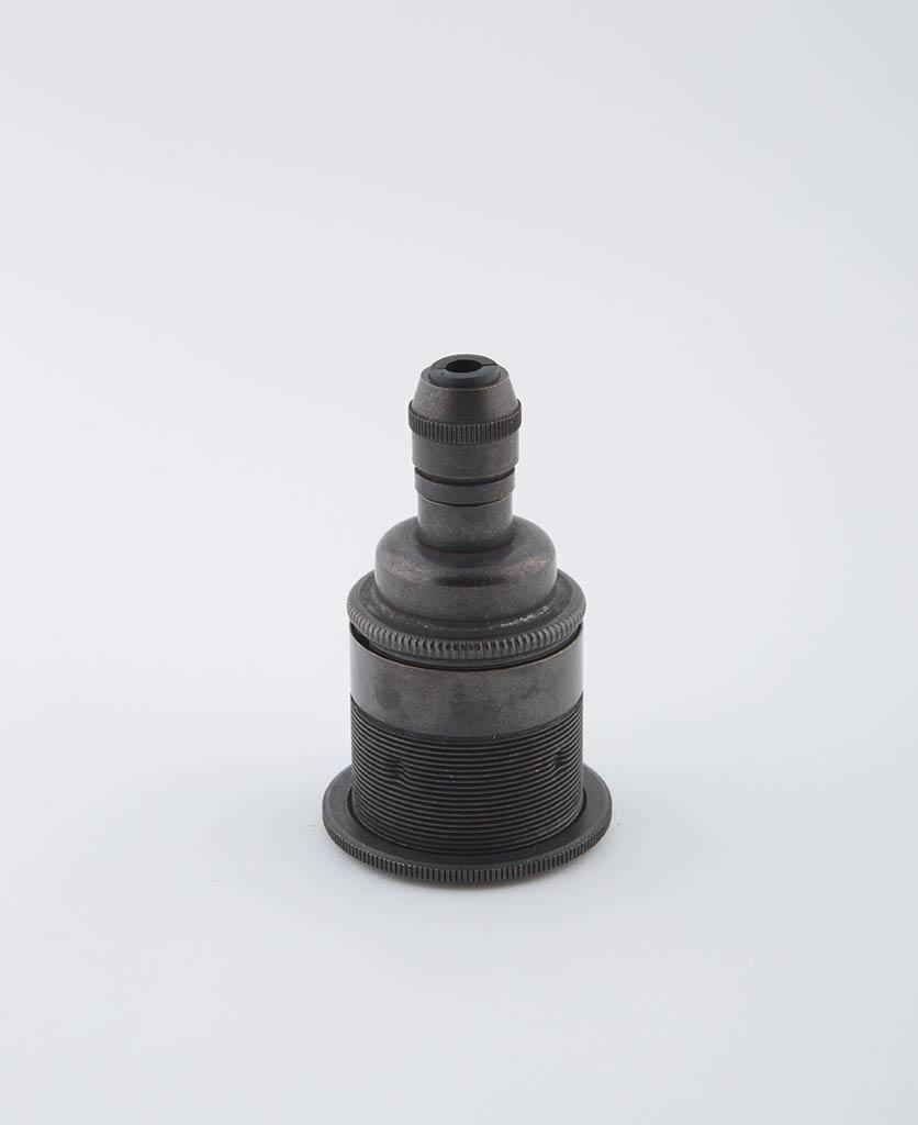 farrier bronze e27 threaded light bulb holder posh