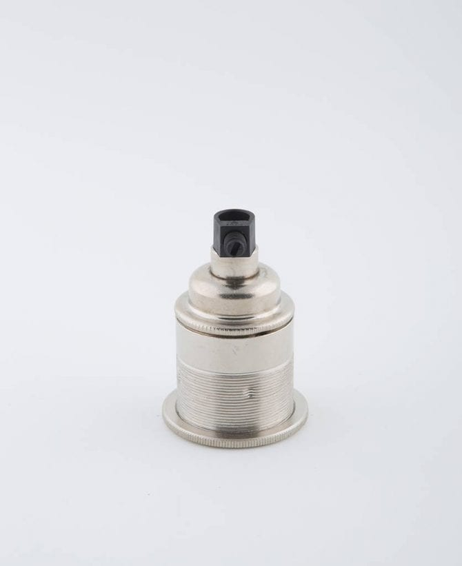 forgotten silver e27 threaded light bulb holder