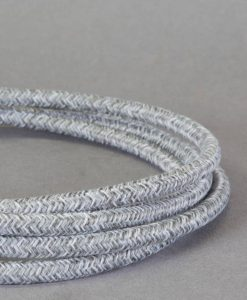textured grey fabric cable for lighting
