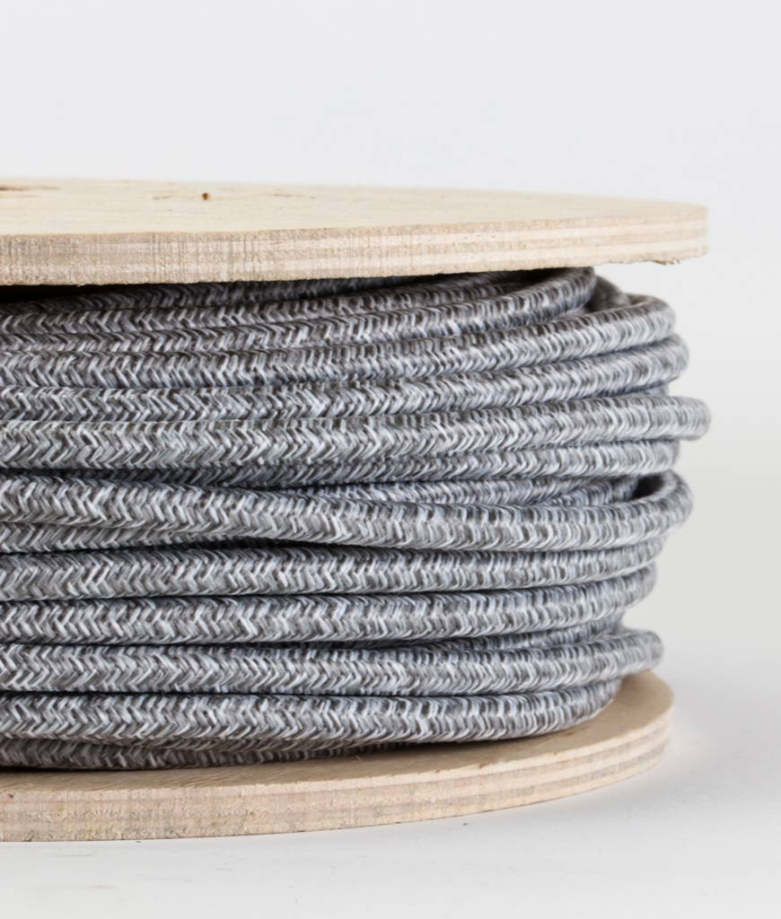 fabric lighting cord. Old Grey Jumper Weave Fabric Cable For Lighting OLD GREY JUMPER Tactile Touch Cord L