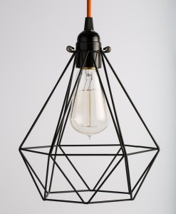 industrial lamp bulb cage  black diamond