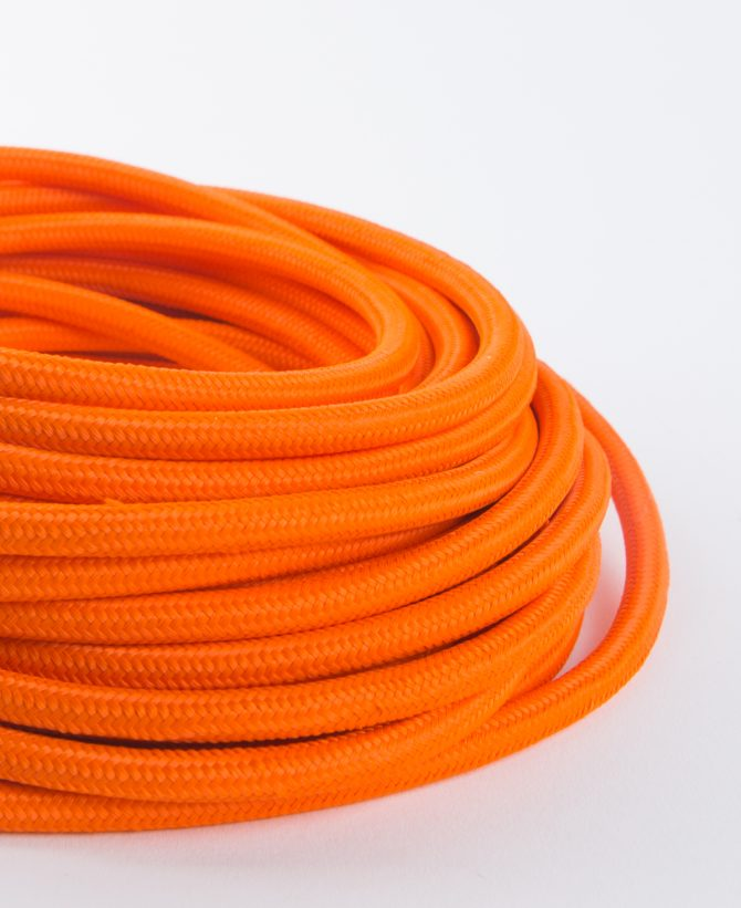 orange fabric cable for lighting