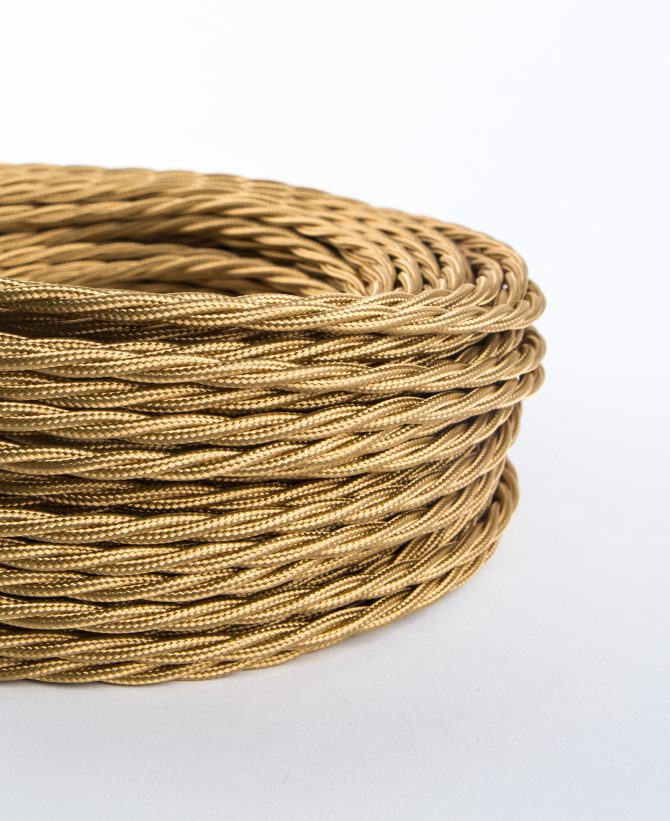 rich gold braided fabric cable