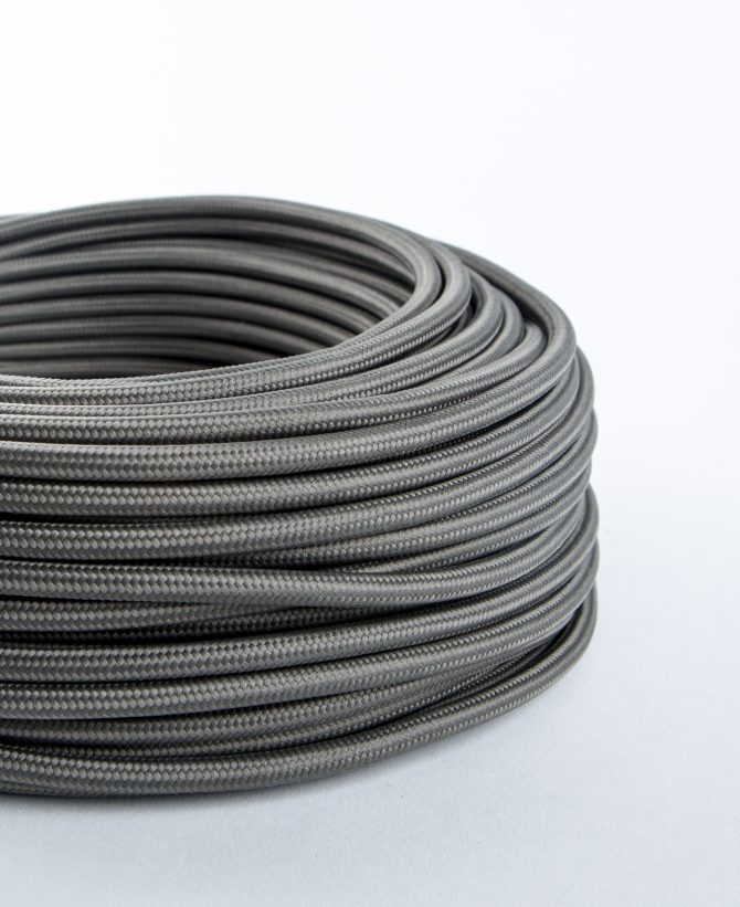 dark steel grey fabric cable for lighting