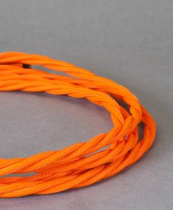 orange braided fabric cable for lighting