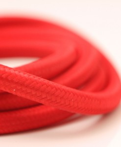 red fabric cable lighting wire
