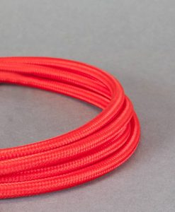 red fabric cable for lighting
