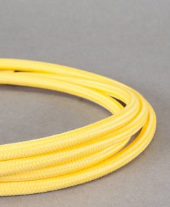 yellow fabric cable for lighting