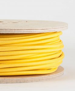 fabric lighting cable yellow